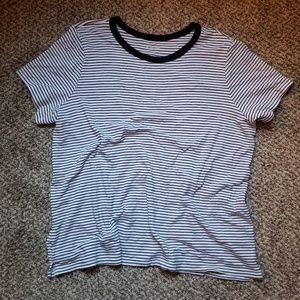 Old Navy striped ringer tee shirt